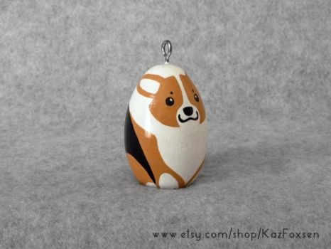 Comission: Custom Corgi Dog Figurine or Ornament by KazFoxsen
