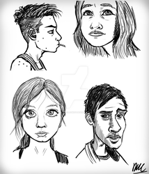 Random Face sketches by Daniel-McCloskey