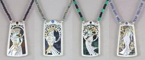 The Four Seasons, Inspired by Alphonse Mucha by KellyMorgenJewelry