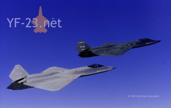 Northrop YF-23 PAV-1 and PAV-2 by supacruze