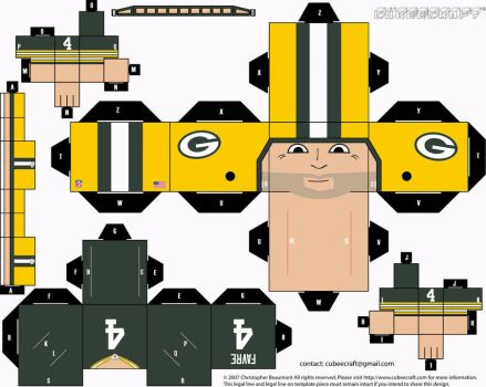 Brett Favre Packers Cubee by etchings13
