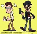 [MM] ''LOUD HOUSE'' Style: AVGN + Nostalgia Critic by Master-Rainbow