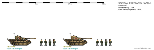 Germany - Wehrmacht Flakpanther-zug by Sareva-Hiiro