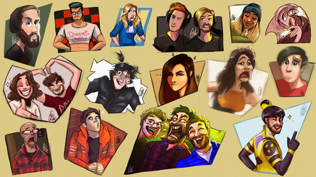 Scribs Scribbles: YouTubers (Part2) by ScribbleNetty