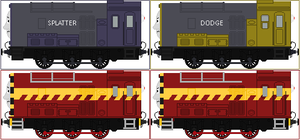 Splatter and Dodge The Twin Diesels by Princess-Muffins