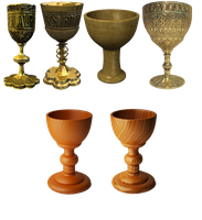 gold and wood chalice by darkadathea