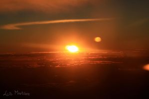 Sunset From the Clouds by luismartinez27