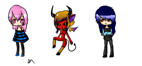Some chibies :3 by Sadistic-Lus