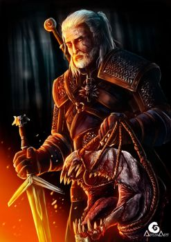 The WITCHER III, Geralt of Rivia + SpeedPaint by ArtAG95