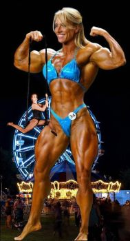 Circus muscle giantess by Turbo99