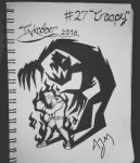 Inktober Day 27: (Creepy) by FeralDoodle