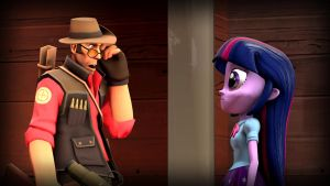 Sniper Meets Human Twilight Sparkle by Cowboygineer