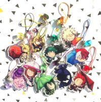 My Hero Academia charms by I-Am-Bleu
