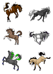 pixel gift horses 1 by Wild-Hearts