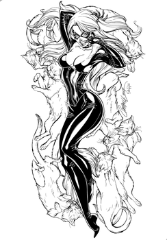 Blackcat - inks by J-Skipper