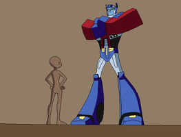 Optimus and OC base by Raygirlbases