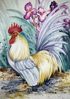 Rooster and Iris by HouseofChabrier