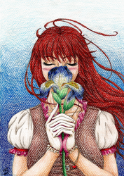 Girl with iris by MusicAndArtItsMyLife