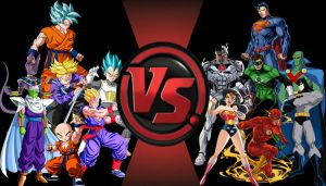 Z-Fighter vs. Justice League Cartoon Fight Club by Gohan6425