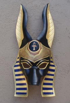 Egyptian Anubis Leather Mask by b3designsllc