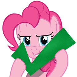 Pinkie holding a check mark by Felix-KoT