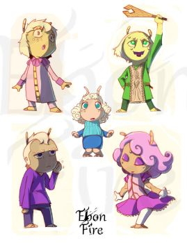 Princesses design by Blackblader