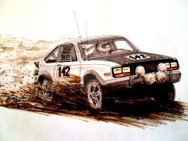 AMC Eagle Rally Drawing by prestonthecarartist