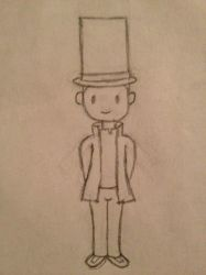 Layton Sketch by ThePixelAngel