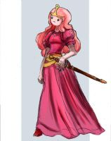 Princess Bubblegum Sketch by TheLivingShadow