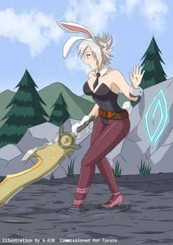 Battle Bunny Riven in Quicksand 01 by A-020