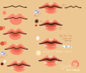 Step By Step - Lip Tutorial by Saviroosje