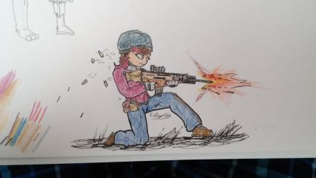 firing stance by Ask-Flare22
