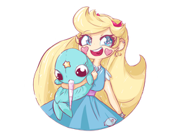 Star Butterfly! A Shooting star by BerryRegalia