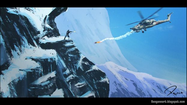 Snow cliff by PRINCEXD