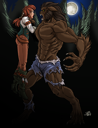 Kalkora and the Werewolf by ProdigyDuck