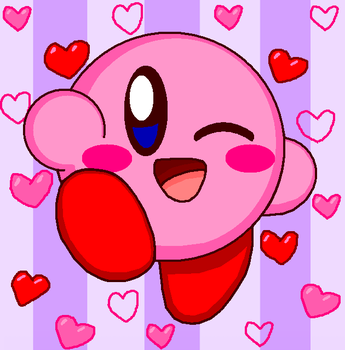 Kirby Wink Cute (Remake) by cuddlesnam