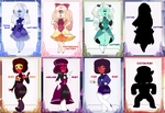 Sapphire and Ruby Auction Adopts (1 LEFT OPEN) by pastelaine-art
