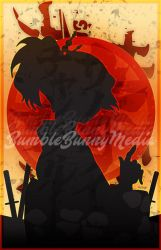 Samurai Champloo Silhouette Posters - Mugen by Nortiker