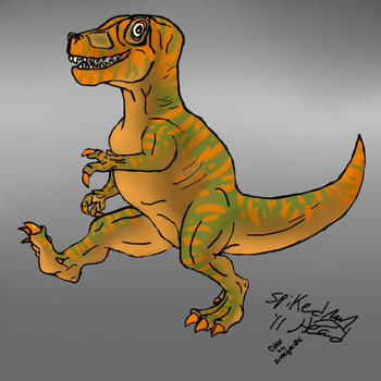 T-Rex Walk-Colored by SpikedHead