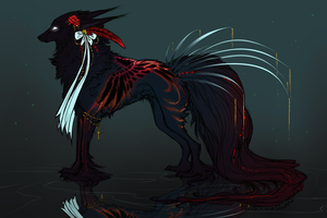 Personal QuillDog/Breed Mascot: Corabelle by MischievousRaven