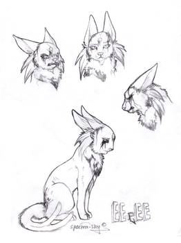 EEeEE Sketches by Spectra-Sky