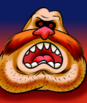Angry Robotnik by knotnore