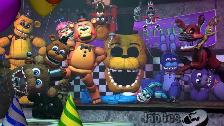 [SFM] A Lot of Animatronics in FNAF 2 Stage in 4K by JaoGcs