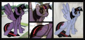 Alicorn Twilight Sparkle Stained Glass by Falconsong