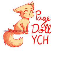 Page Doll YCH (CLOSED) by Zharleste