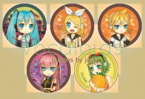 Vocaloid buttons by Airiemi