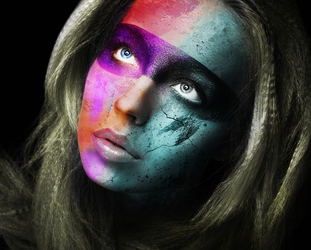 Colored Face by fantmayo