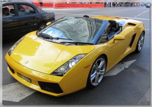 Yellow Lamborghini Gallardo by JohnK222