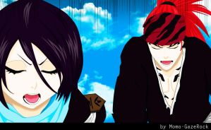 Bleach 674 - Renji and Rukia by Momo-Gazerock