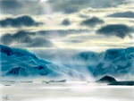 iPad FINGER painting: Beautiful landscape by chaseroflight